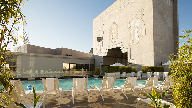 Pool lounges at the Loews Hollywood