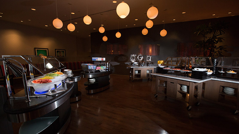 Preston Breakfast Buffet area at the Loews Hollywood
