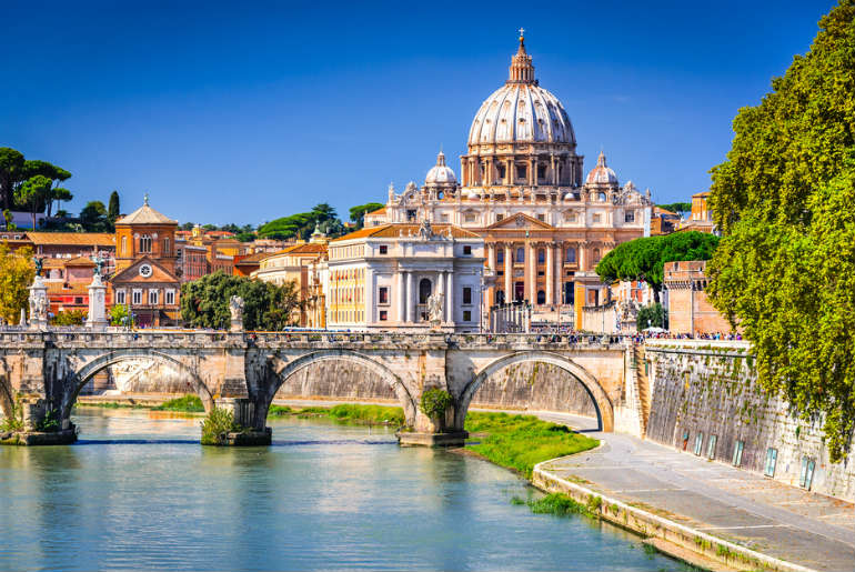 The river that runs by Vatican City