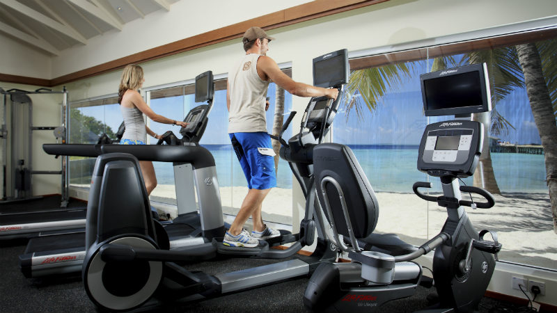 fitness centre at the Centara Ras Fushi Resort and Spa Maldives