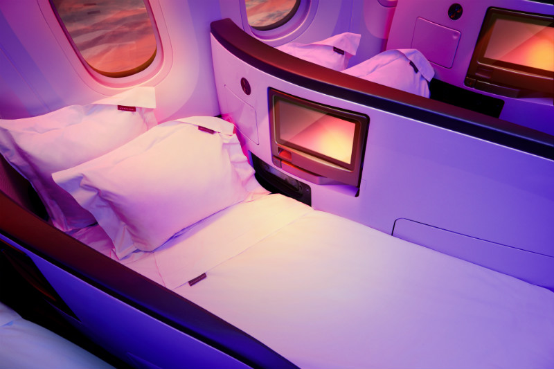 Virgin Atlantic Upper Class Fully Flat Bed
