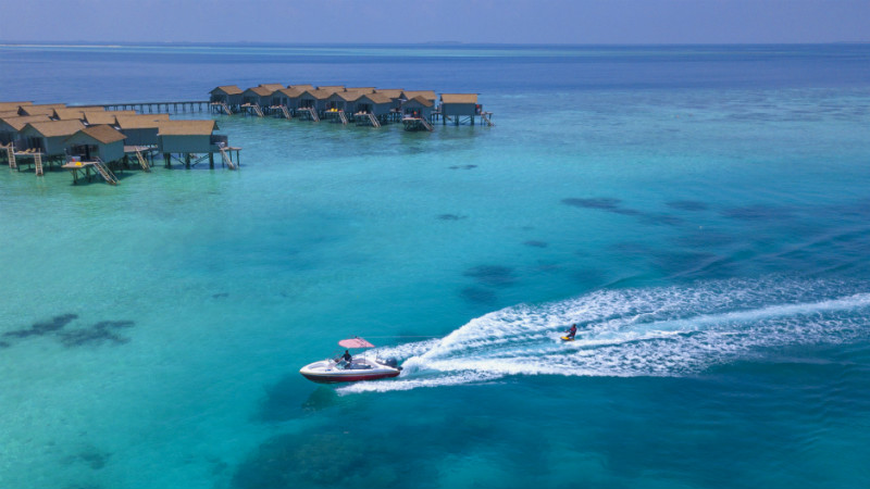 Speed boat at the Centara Ras Fushi Resort and Spa Maldives