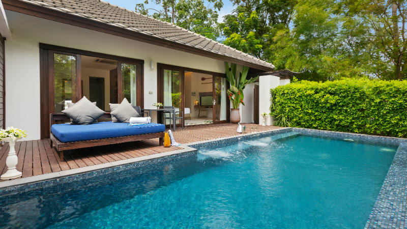 Private pool in the one bedroom villa at Outrigger Koh Samui