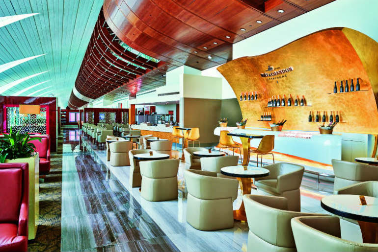 Champagne Emirates Lounge Dubai