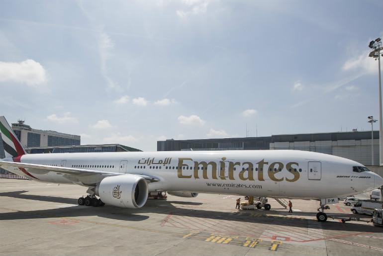 Emirates B777-300ER aircraft