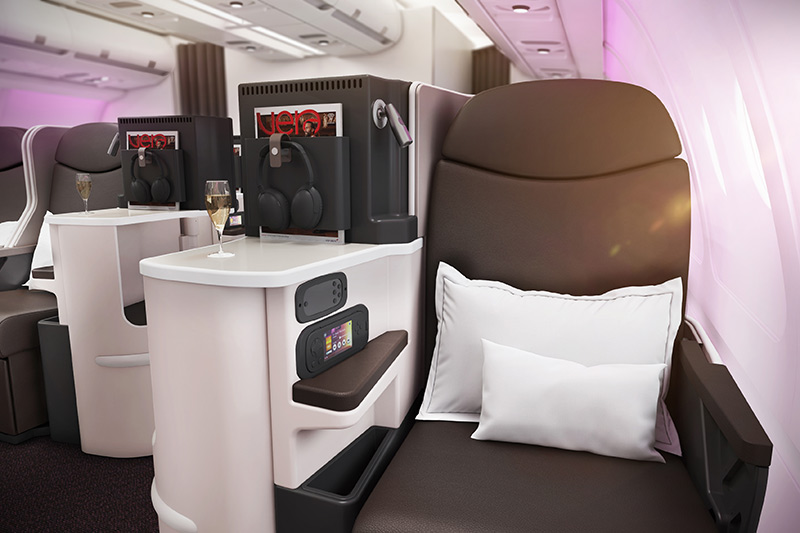 Virgin Business Class Seat on the Airbus A330-200