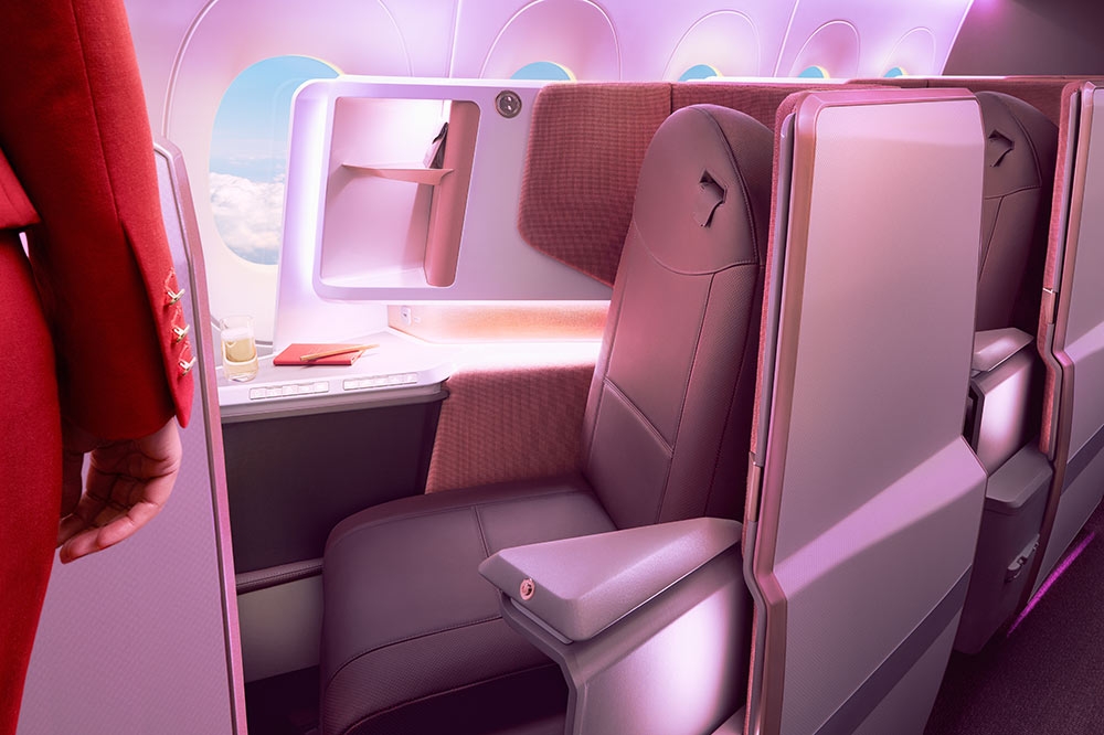 The new Virgin Atlantic Upper Class on the A350