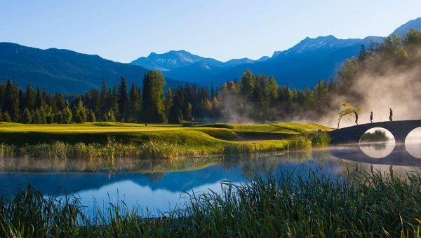 Misty morning at the Golf Course at the Four Season Whistler