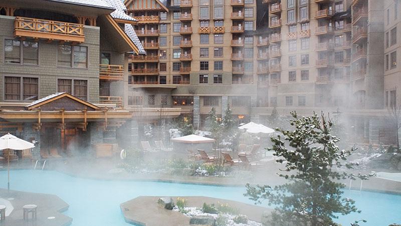 Four Season whistler swimming pool