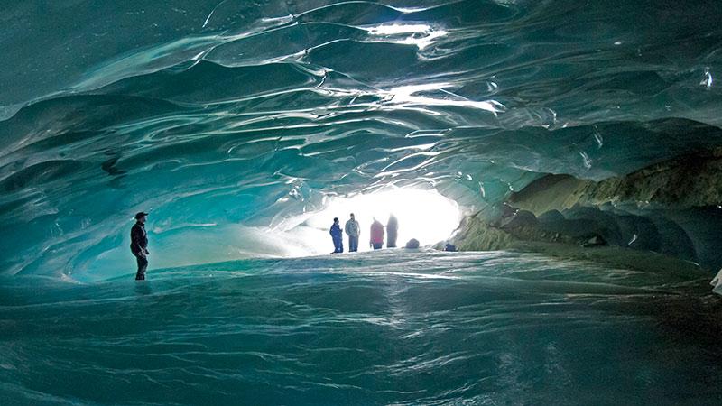 ice caving trek at the four season whistler resort