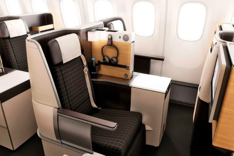 Swiss Air Lines B-777 business class seats