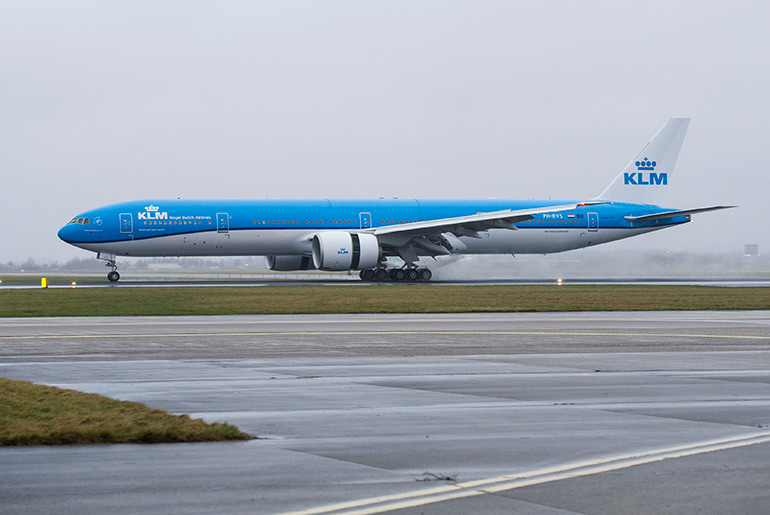 KLM Boeing 777-300ER on runway