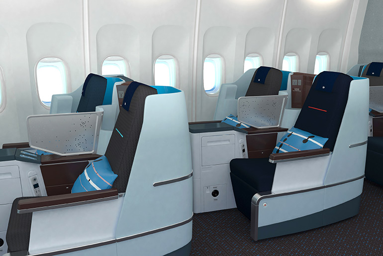 Seating in KLM Business Class