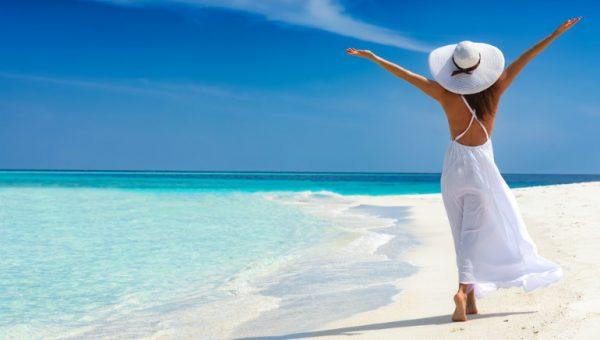 lady on the beach tropical beach vacation