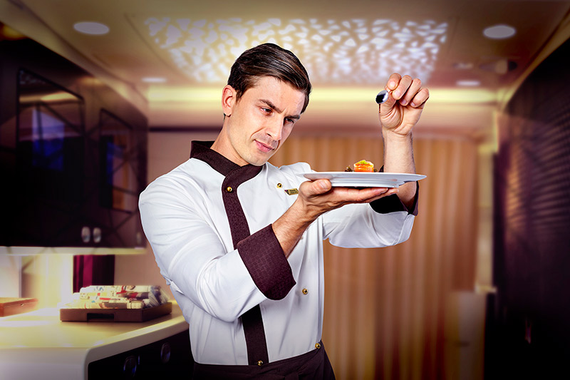 Etihad's inflight chef on their business class flights