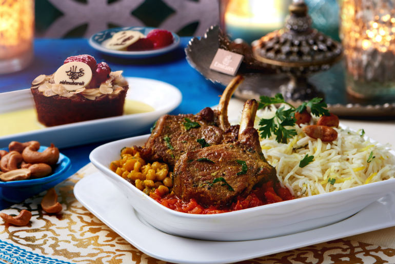 Emirates Serves a Special Inflight Eid Menu offering Lamb Ouzi