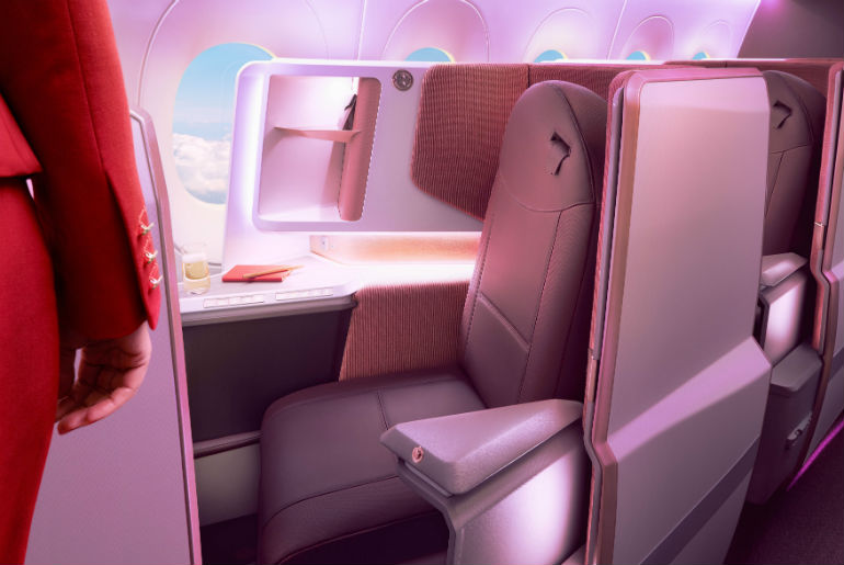 Virgin Atlantic Upper Daytime cabin
