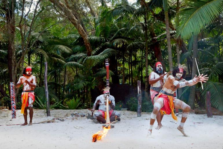 Yugambeh Aboriginal warriors dance