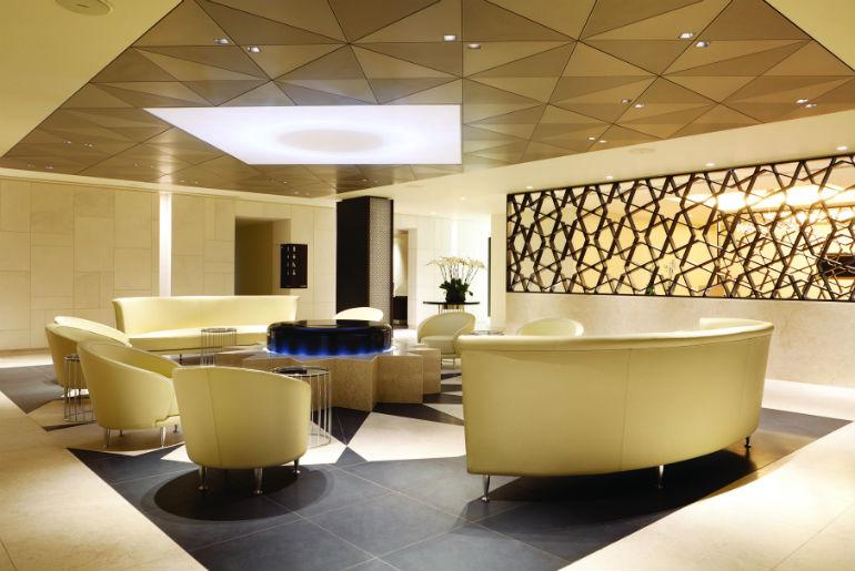 Qatar Airways Business Class Lounge LHR