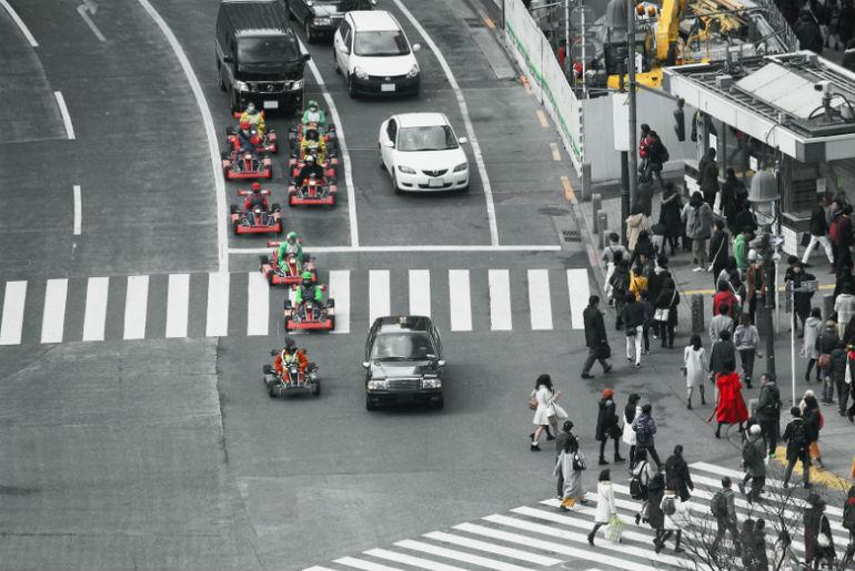 Maio Kart Racing in Tokyo