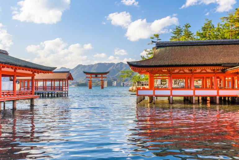 Miyajima Hiroshima Japan floating shrine