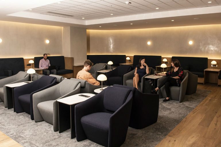 customers in BA Johannesburg lounge