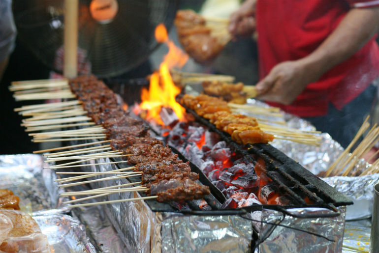 Singapore's Satay Street food market