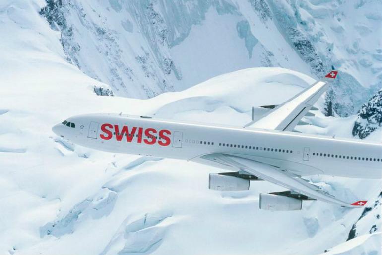 A340 Swiss business class